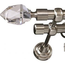 Karnisz metalowy 19 mm podwójny Nikiel