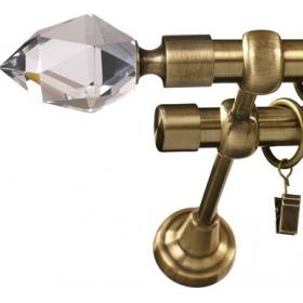 Karnisz metalowy 19 mm podwójny Złoto