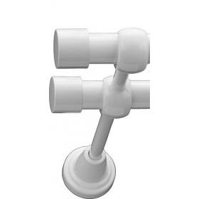 Karnisz metalowy 19 mm podwójny Biały