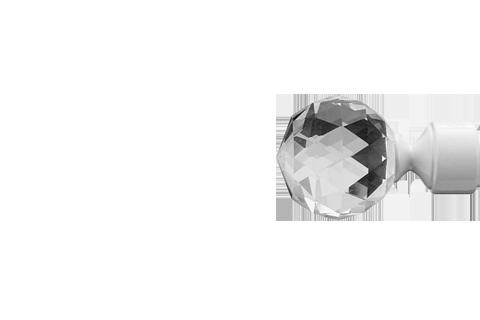 Kryształowa kula - Biały