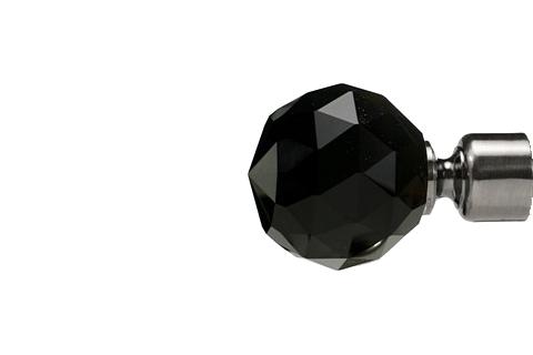 Czarna krysztalowa kula - antracyt (25mm)