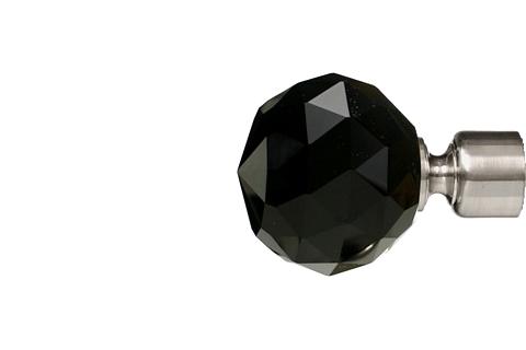 Czarna krysztalowa kula - nikiel (25mm)