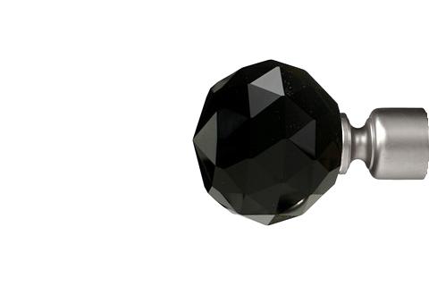 Czarna krysztalowa kula - satyna (25mm)