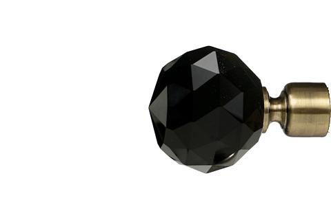 Czarna krysztalowa kula - złoto (25mm)
